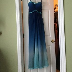 Blue ombré prom/evening gown.